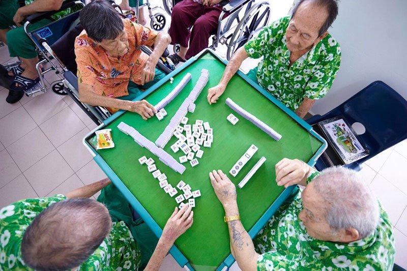 mahjong, elders activity, old folks home, nursing home singapore